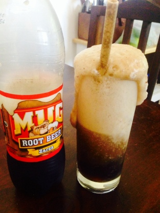 Root beer floats in Costa Rica